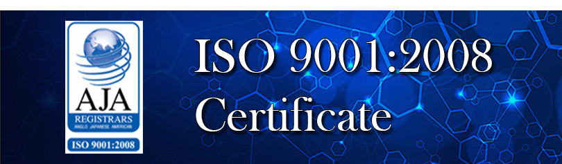 ISO 2001:2008 Certificate
